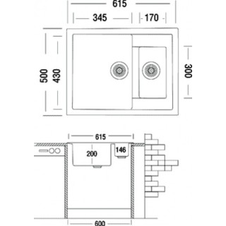 Гранитная мойка Grant Duplex олд стон