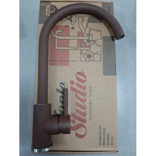 Смеситель для гранитной мойки Fonte коричневый