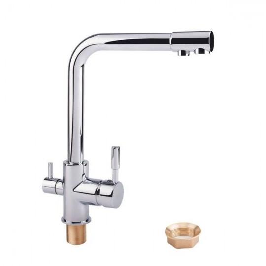 Смеситель Q-Tab хром с краном питьевой воды