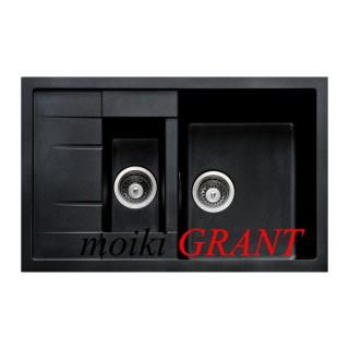 Гранитная мойка Grant Duos черная