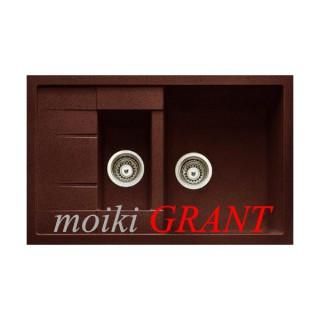 Гранитная мойка Grant Duos коричневая
