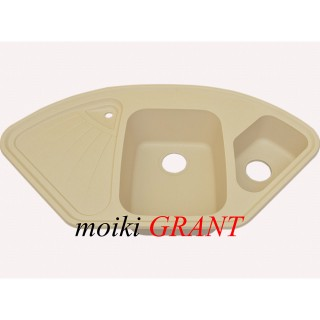 Гранитная мойка Grant Elite ivory угловая